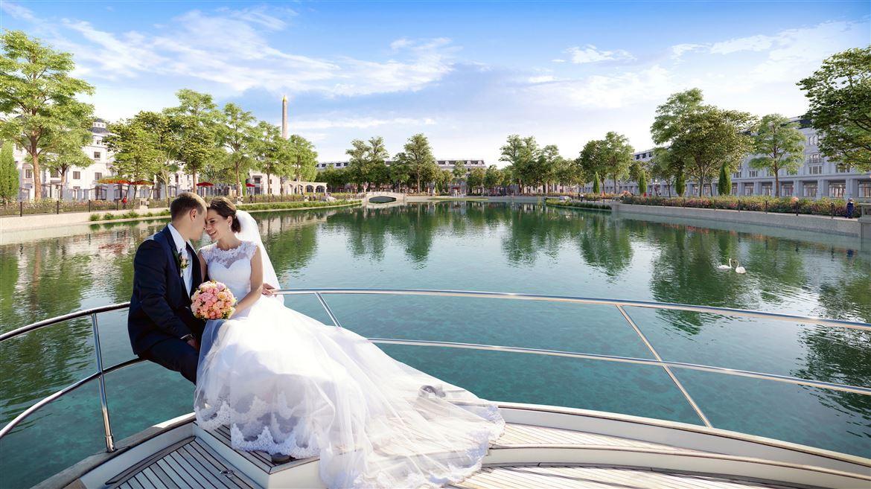 Công viên hồ Mắt Rồng - điểm nhấn độc đáo ở KĐT Danko City Thái Nguyên