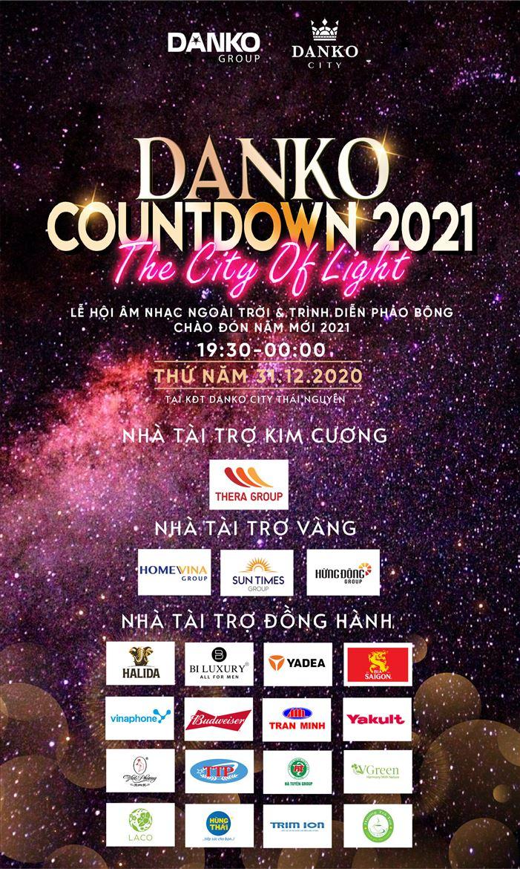Danko Countdown 2021 thu hút hàng loạt nhà tài trợ tên tuổi