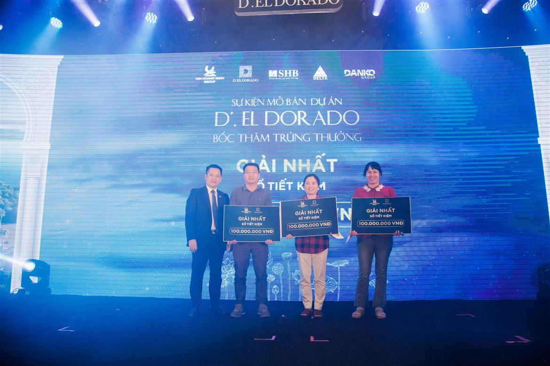1,2 tỷ đồng quà tặng được trao tại sự kiện mở bán D'. El Dorado