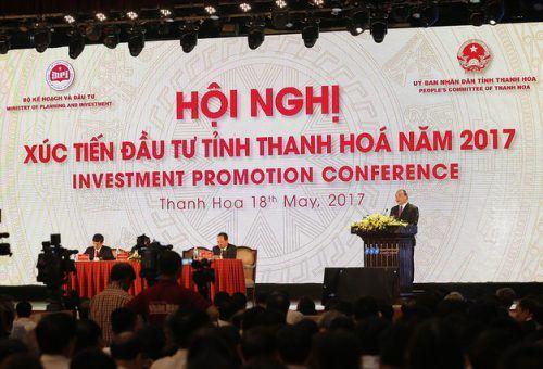 Thủ tướng Nguyễn Xuân Phúc dự hội nghị xúc tiến đầu tư tỉnh Thanh Hóa.