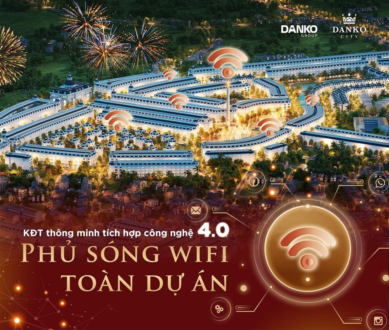 Danko City - Khu đô thị thông minh phủ sóng wifi toàn dự án ở Thái Nguyên