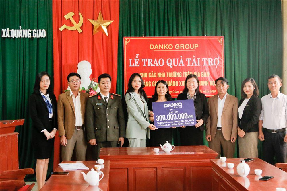 Quỹ học bổng Danko tài trợ 300 triệu đồng cho các trường học ở Thanh Hóa