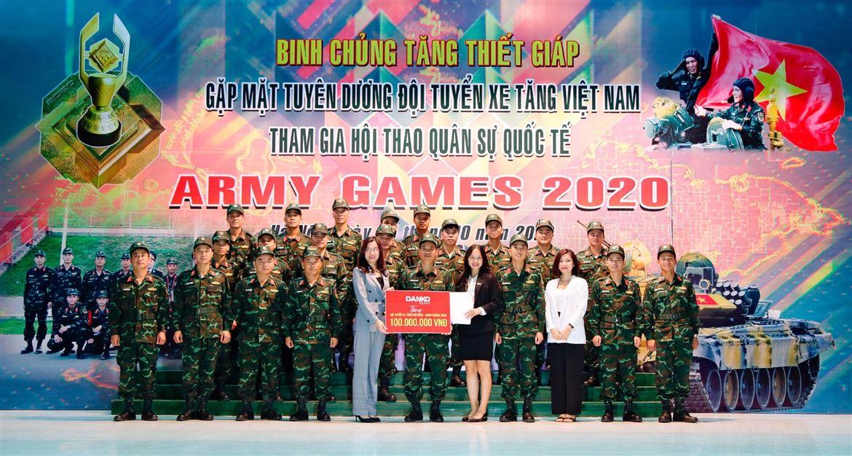 Danko Group tặng 100 triệu cho đội tuyển xe tăng Việt Nam đạt quán quân Army Games 2020