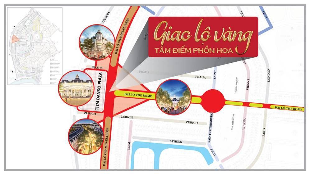 Giải mã vị trí giao lộ vàng tại dự án Danko City